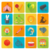 Circus icons set — Stock Vector