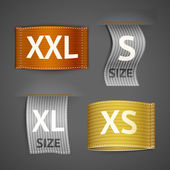 Clothing labels set — Stock Vector
