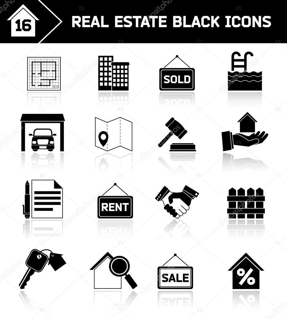 черные значки: