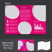 Brochure template tri fold — Stock Vector
