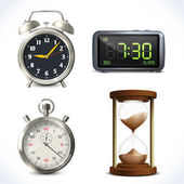 Realistic clock set — Stock Vector