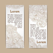 Ornamental banners vertical — Stock Vector