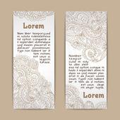 Ornamental banners vertical — Stock Vector