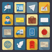 ícones de serviço de post — Vetor de Stock
