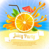 Orange juice party — Stock Vector