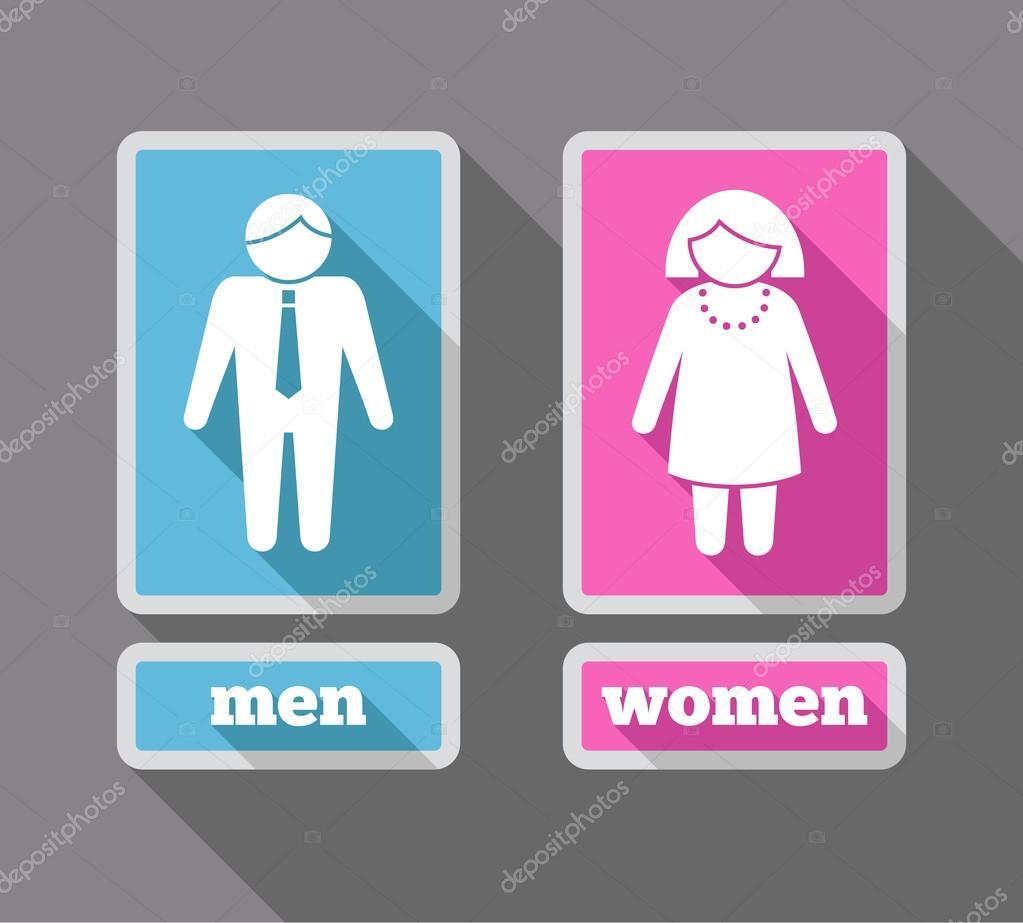 Ir Al Baño Color Amarillo: mujeres iconos conjunto color — Ilustración de stock #47243763