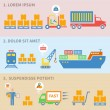 Logistic icons labels — Stockvektor  #47366005