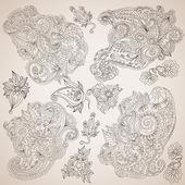 Ornamental decorative elements set — Stock Vector