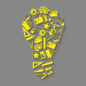 デザイナー ツール アイデア コンセプト — ストックベクタ