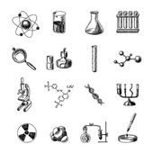 Chemistry icons set — Stock Vector