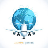 Logistic icon airplane — Stock Vector