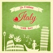 Italy retro poster — Stock Vector