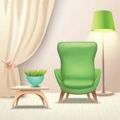 Interior design armchair — Stock Vector