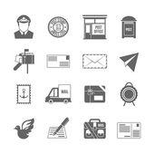 Post service icon black — Stock Vector