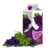 Juice pack grape — Stock Vector