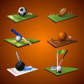 Sport Emblem Icons Set — Stock Vector