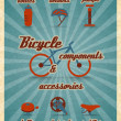 ������, ������: Bicycle parts poster
