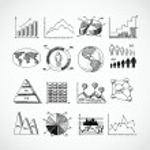 Sketch diagrams set — Stock Vector #48183405
