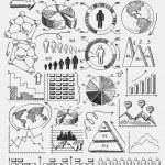 Sketch diagrams infographics — Stock Vector #48183447