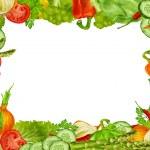 Vegetables set frame — Stock Vector #48186999