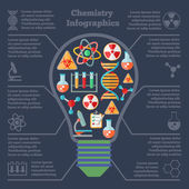 Chemistry research infographics — Stock Vector