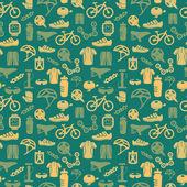 Bike seamless pattern — Stock Vector