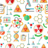 Chemistry research seamless pattern — Stock Vector