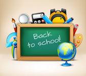 School chalkboard frame — Stock Vector