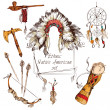 Ethnic native american set colored — Stockvektor  #48197119