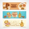 Oriental sweets banners — Stock Vector