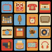 Vintage gadget icons — Stock Vector