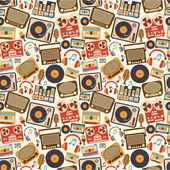 Music retro seamless pattern — Stock Vector
