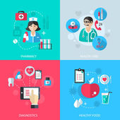 Medicine healthcare services concept — Stock Vector