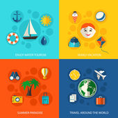 Summer travel vacation concept — Stock Vector