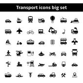 Set of universal transportation vehicles pictograms — Stock Vector