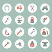 Blacksmith icons set — Stock Vector