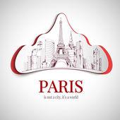 Paris city emblem — Stock Vector