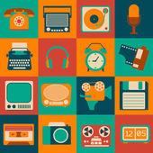 Vintage Gadgets Set — Stockvektor