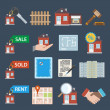 Real estate icons — Stock Vector #48433601