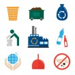 Garbage icons flat — Stock Vector #48433799