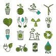 Ecology and waste icons set color — Stock Vector #48433939