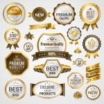 Luxury labels set — Stock Vector