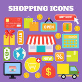 Shopping decorative icons — Stock Vector
