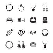 Jewelry icon black — Stok Vektör