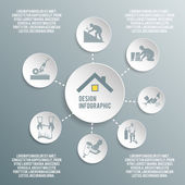 Roofer paper infographic — Vettoriale Stock