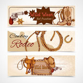 Wild west banners — Stock Vector