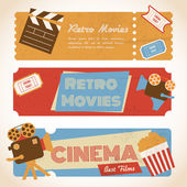 Retro movie banners — Stock Vector