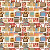 Vintage gadget seamless pattern — Stock Vector