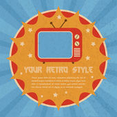 Retro style poster — Stock Vector