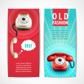 Old telephone banners vertical — Stock Vector